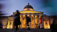 Time-lapse of the National Gallery in London