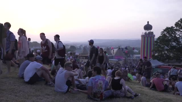 Timelapse of the sunset after day one at Glastonbury 2017 It was the hottest day in the festival's history