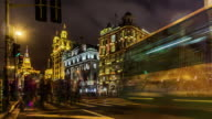 Timelapse of the traffic at the Bund in Shanghai, China