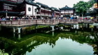 Timelapse of the visitors in the famous Yuyuan Garden,Shanghai, China