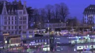 Timelapse of the Zurich skyline as dawn breaks in Switzerland on Friday December 12 2015