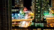 HD: Timelapse of Toronto financial district by night