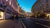 LONDON: TimeLapse of Traffic and people in Regent St with Christmas Decorations