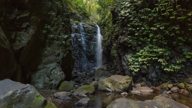 Timelapse of waterfalls at Lamington National Park, Queensland, Australia