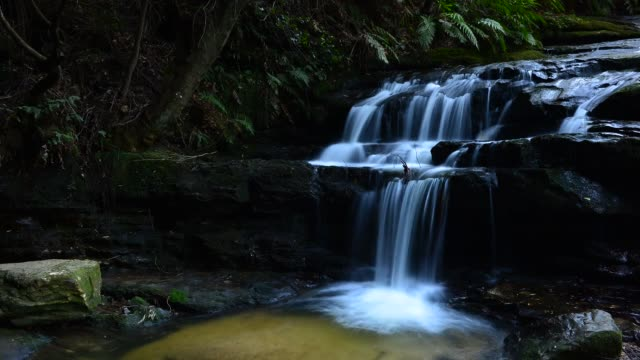Timelapse of Waterfalls in Blue Mountains national park