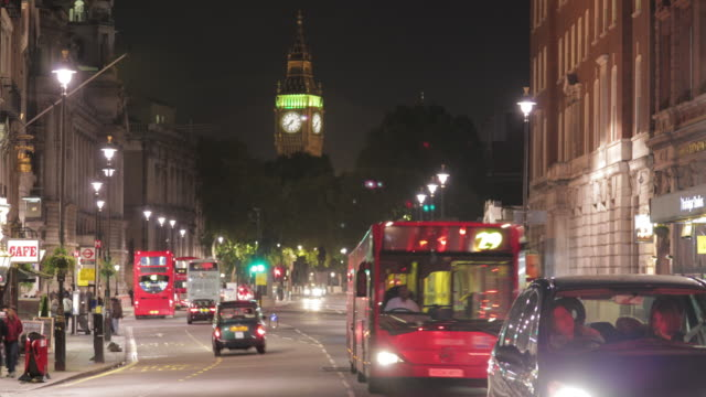 Time-lapse of White Hall road and Big Ben circa October 2011 in London