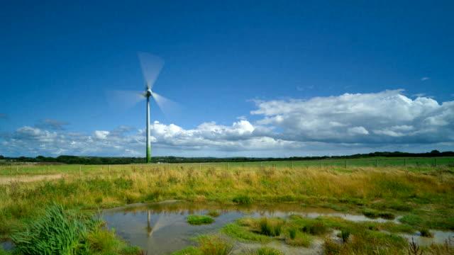 Time-lapse of wind turbine