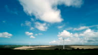 Time-lapse of wind turbines