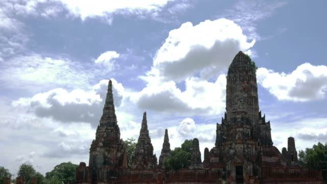 Time-lapse old temple, Ayutthaya, Thailand