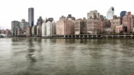 time-lapse in HD Panoramica: New York City Manhattan Skyline