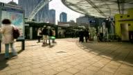 time-lapse in HD panning: Centro di Rotterdam e al market hall Paesi Bassi