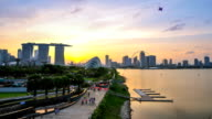 Timelapse panoramic view in Singapore . Nobay