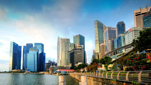 Timelapse panoramic view in Singapore .