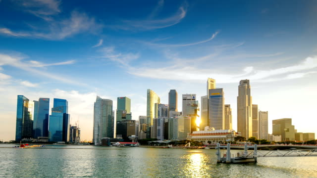 Time lapse vista panoramica a Singapore.