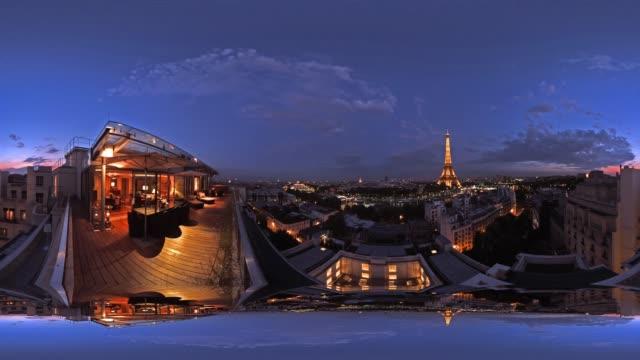 360 Timelapse: Paris Cityscape