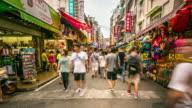 4K Time-Lapse: Pedestrian Crowd at Tamsui Taipei, Taiwan
