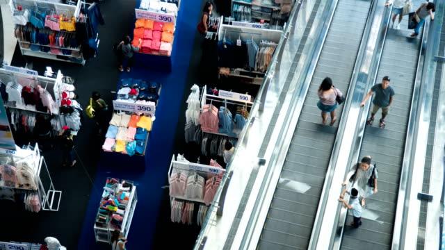 4 K Zeitraffer: Fußgänger drängten sich im Einkaufszentrum, Bangkok Thailand