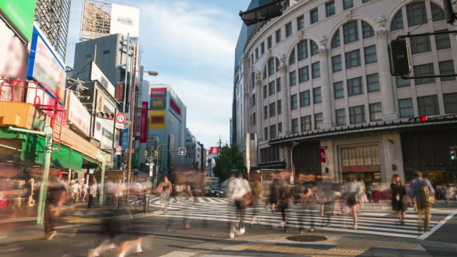 HD Time-lapse: Pedestrians at Dotonbori Osaka