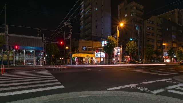 HD Time-lapse: Pedestrians at Osaka at night