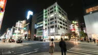 HD Time-lapse: Pedestrians cross at Ginza City