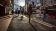 4K Time-lapse: Pedestrians crowded at Harajuku Tokyo