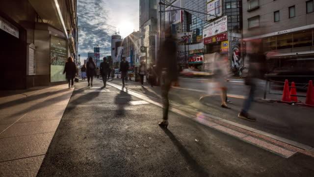 4 K Time-lapse: voetgangers druk in Harajuku Tokyo
