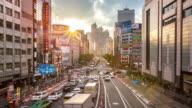 4K Time-lapse: Pedestrians crowded at Shinjuku station Tokyo sunset