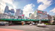 4K Time-lapse: Pedestrians crowded at Shinjuku Tokyo