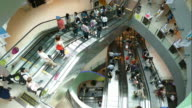 time-lapse people in shopping mall