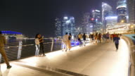 time-lapse people in singapore city