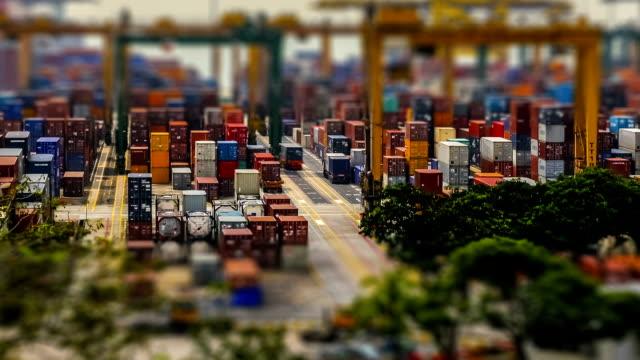 Zeitraffer Hafen Tag