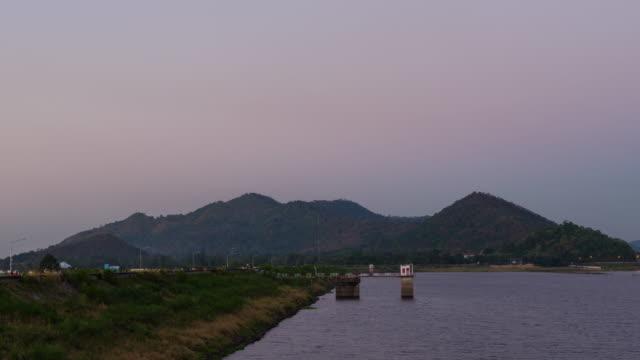 Timelapse  reservoir in thailand 4k footage