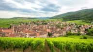 4K Time-lapse: Riquewihr Village Cityscape Alsace France