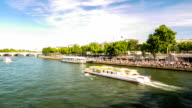 HD Time-lapse: River Seine from Pont Alexandre III, Paris France
