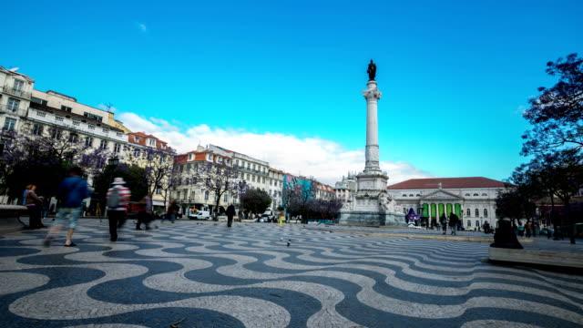 HD Time-lapse: Rossio Square Lisbon Portugal