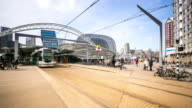 time-lapse: Rotterdam Downtown and market hall Netherlands