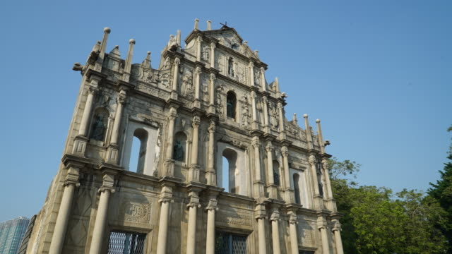 Timelapse Ruins Of St Paul's Church In Macau
