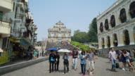Timelapse Ruins Of St Paul's Church In Macau