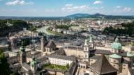4 K Zeitraffer: Salzburg Stadt an der salzach Österreich