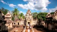 HD time-lapse: Sdok Kok Thom Castle, Cambodia Khmer style Thailand
