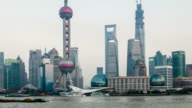 Timelapse-skyline von Shanghai