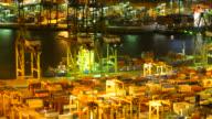 Zeitraffer Hafenstadt cargo in der Stadt Singapur