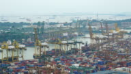 HD Timelapse - shipping port cargo at singapore