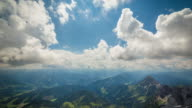 Timelapse shot in Styria, Austria on the top of the Dachstein mountain during spring