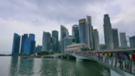 4K Time-lapse Singapore city day to night