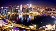 HD Time-lapse: Singapore Cityscape at dusk