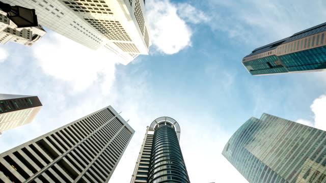 Time-lapse in HD: Ufficio sfondo paesaggio urbano di Singapore