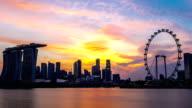 HD Time-lapse: Singapore Cityscape sunset