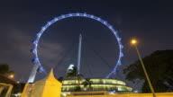 4 K Timelapse : Singapur Flyer in Nacht