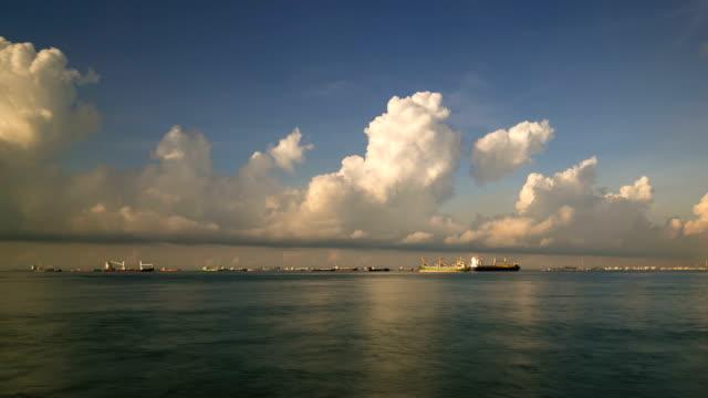 Zeitraffer Singapur Keppel Bay